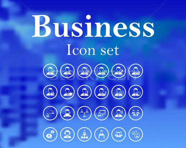 Set of business icon Stock photo © angelp