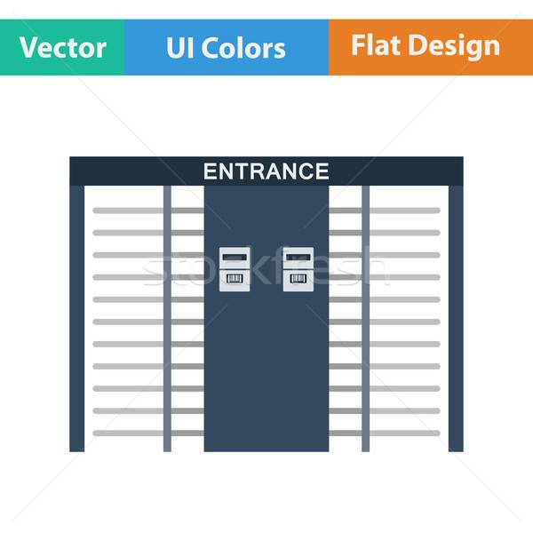 Stade entrée icône design ui couleurs Photo stock © angelp