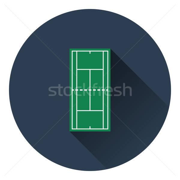 Tennis field mark icon Stock photo © angelp