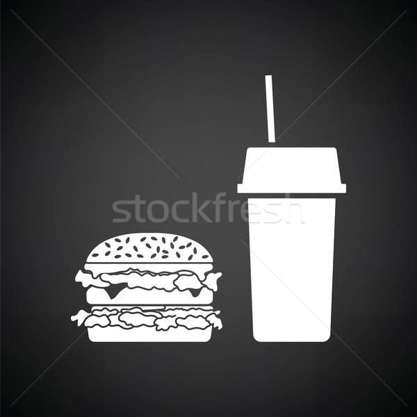 Fast food icon Stock photo © angelp