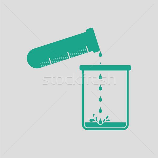 アイコン 化学 ビーカー 液体 ストックフォト © angelp