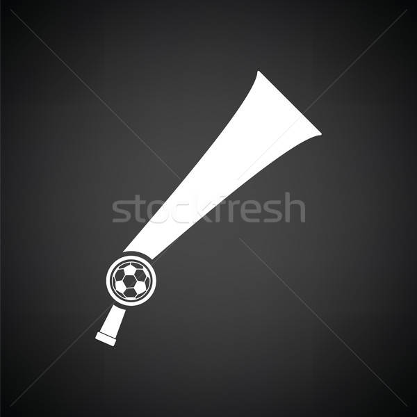 Football fans vent corne jouet icône Photo stock © angelp