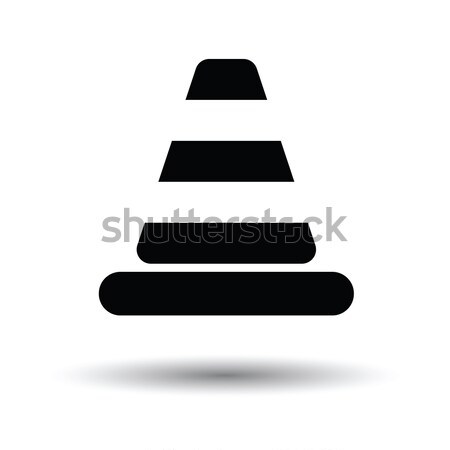 Icon of Traffic cone Stock photo © angelp
