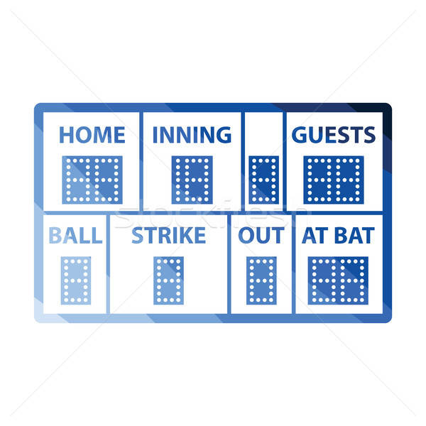Baseball scorebord icon kleur ontwerp sport Stockfoto © angelp