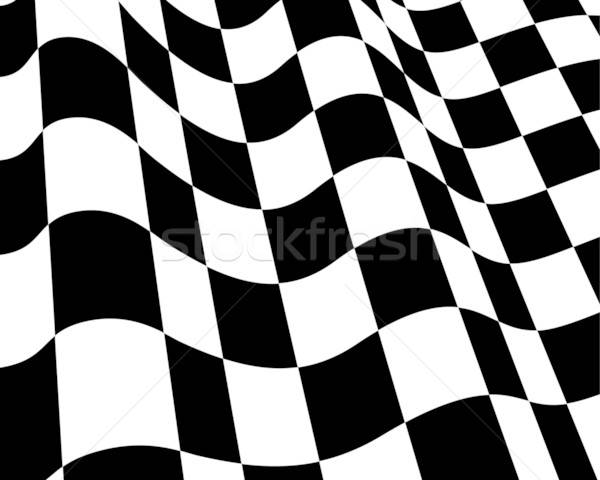Flagi czarno białe wyścigi banderą streszczenie świetle Zdjęcia stock © angelp