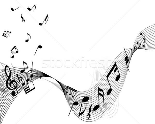 musical stuff background Stock photo © angelp
