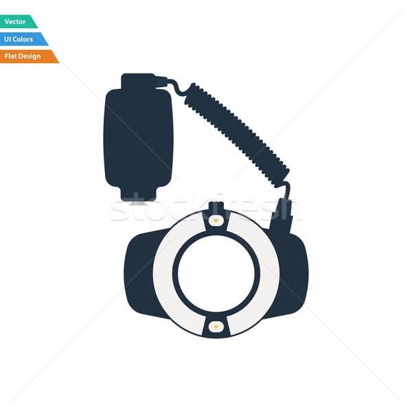 Design icona portatile cerchio macro flash Foto d'archivio © angelp