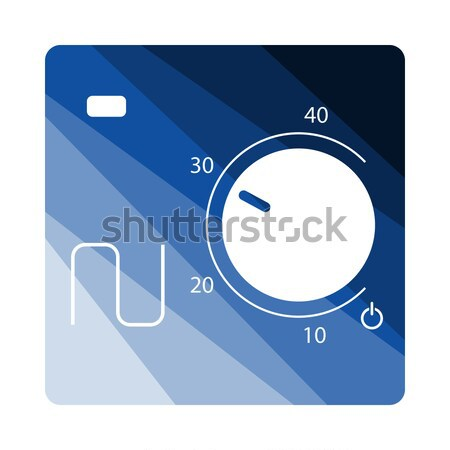Projektu ikona centymetrem ui kolory pracy Zdjęcia stock © angelp