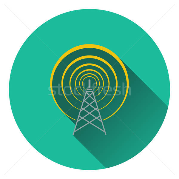Rádio antena ícone negócio televisão tecnologia Foto stock © angelp