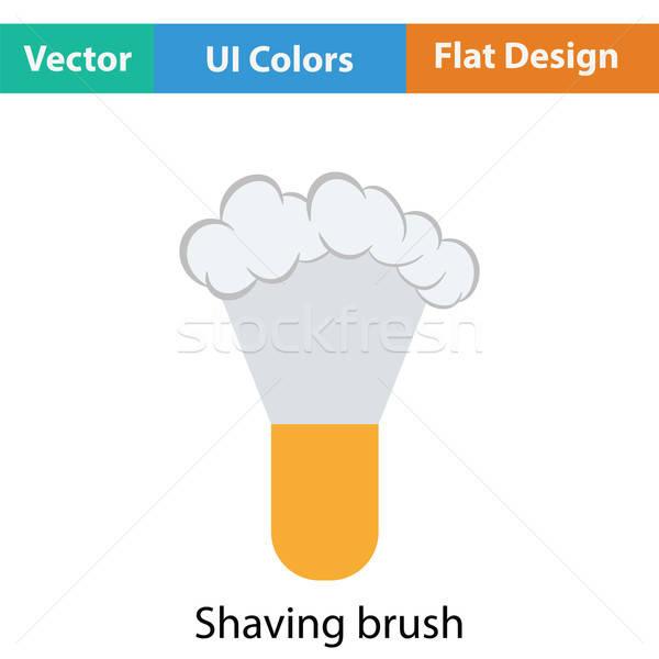Shaving brush icon Stock photo © angelp