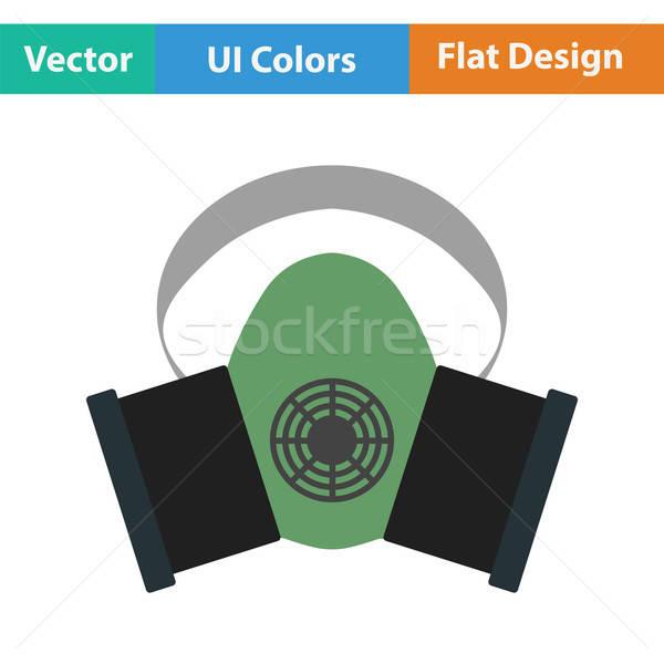 Pyłu ochrony maska ikona kolor projektu Zdjęcia stock © angelp