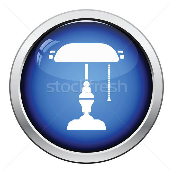 Lampe icône bouton design bureau Photo stock © angelp