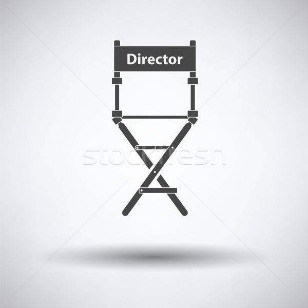 Yönetmen sandalye ikon gri film imzalamak Stok fotoğraf © angelp