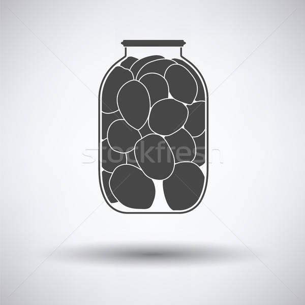 Dobozos paradicsomok ikon szürke természet üveg Stock fotó © angelp