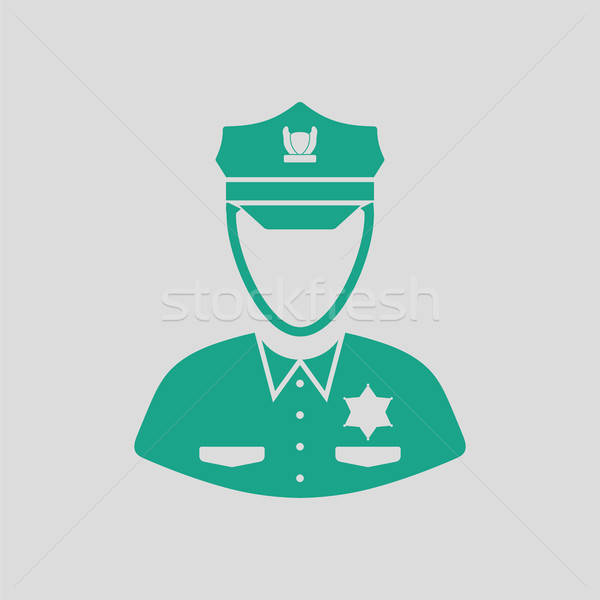 Policeman icon Stock photo © angelp