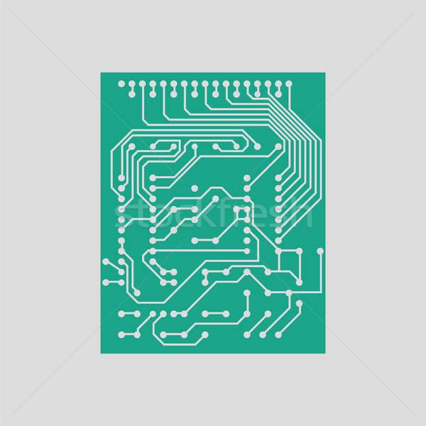 Circuit icon Stock photo © angelp