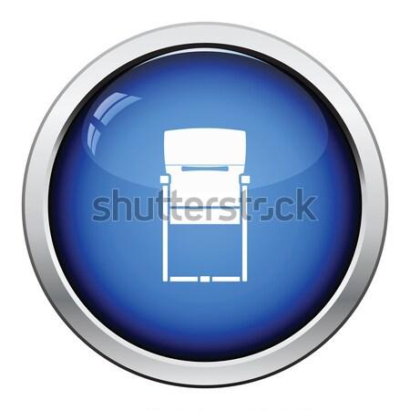 Gast bureaustoel icon glanzend knop ontwerp Stockfoto © angelp