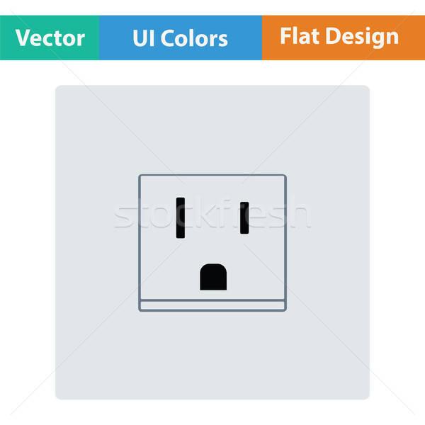 EE.UU. eléctrica enchufe icono signo energía Foto stock © angelp