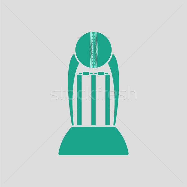 Сток-фото: крикет · Кубок · икона · серый · зеленый · области