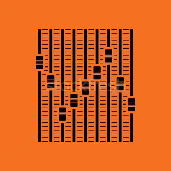 Müzik ekolayzer ikon turuncu siyah disko Stok fotoğraf © angelp