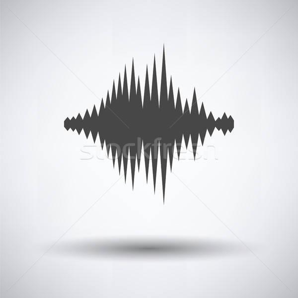 Muzyki korektor ikona szary tle kolor Zdjęcia stock © angelp