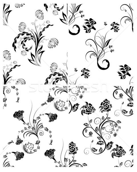 set of flowers backgrounds Stock photo © angelp