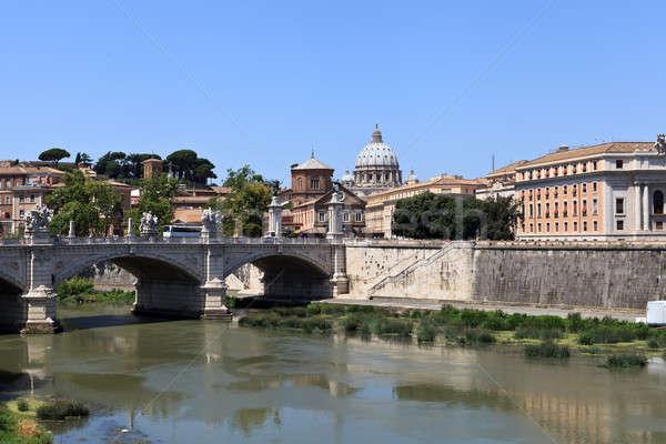 Bridge across the Tiber Stock photo © angelp