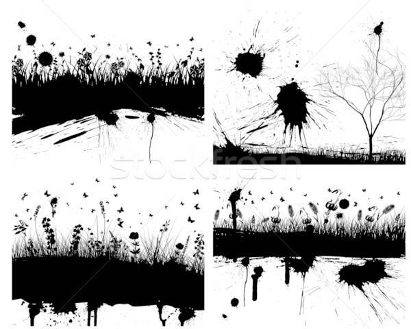 grunge background set Stock photo © angelp