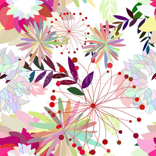 Seamless multicolor floral pattern Stock photo © angelp