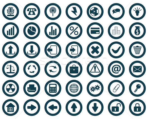 新しい コレクション 異なる アイコン Webデザイン ストックフォト © angelp