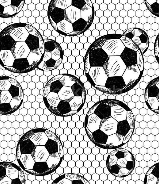 Football (soccer) theme seamless pattern Stock photo © angelp