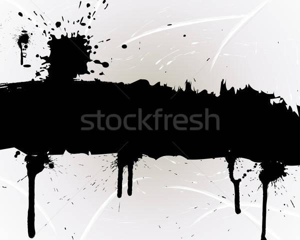 Photo stock: Grunge · vecteur · résumé · design · peinture · fond