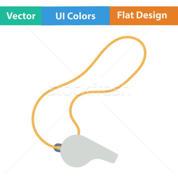 Design icône sifflement dentelle ui couleurs Photo stock © angelp