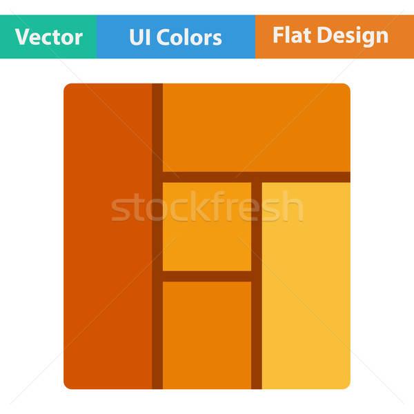 Flat design icon of parquet plank pattern Stock photo © angelp