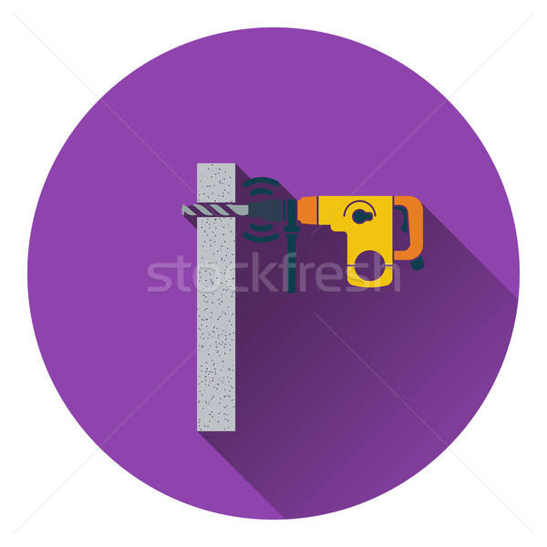 Icon of perforator drilling wall Stock photo © angelp