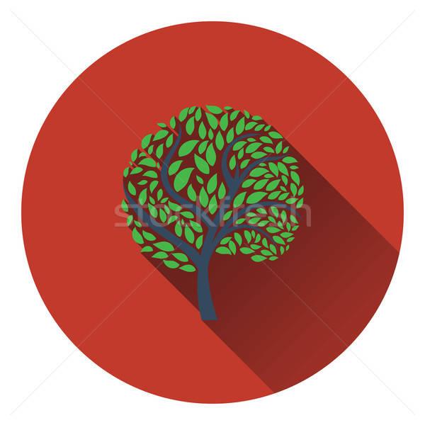 Ekolojik ağaç yaprakları ikon orman yaprak Stok fotoğraf © angelp