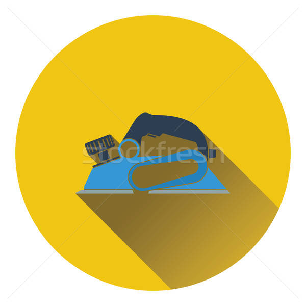 Icon of electric planer Stock photo © angelp