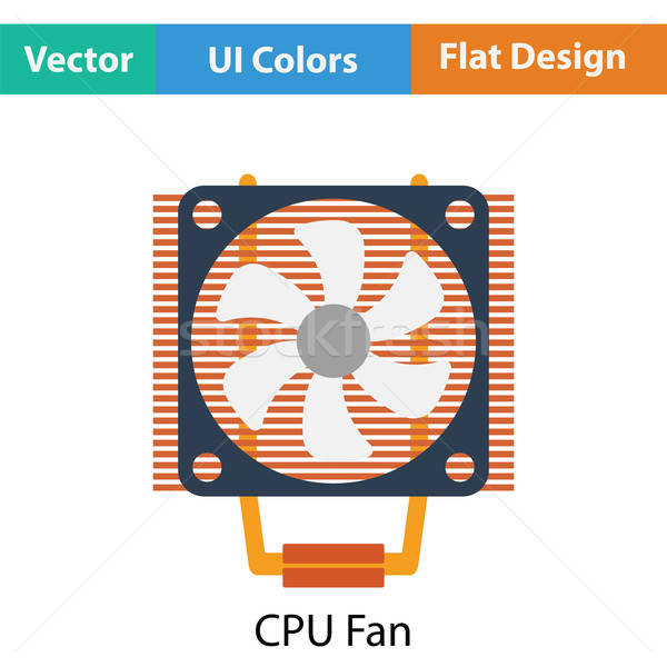 Cpu Fan Symbol Farbe Design Technologie Stock foto © angelp