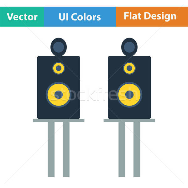 Ses hoparlörler ikon renk dizayn parti Stok fotoğraf © angelp