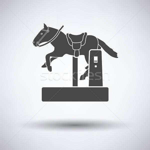 Horse machine icon Stock photo © angelp