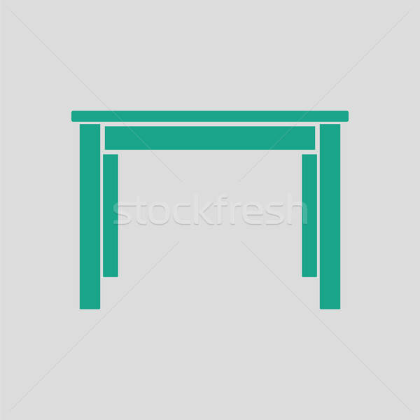 Mesa de jantar ícone cinza verde cozinha tabela Foto stock © angelp
