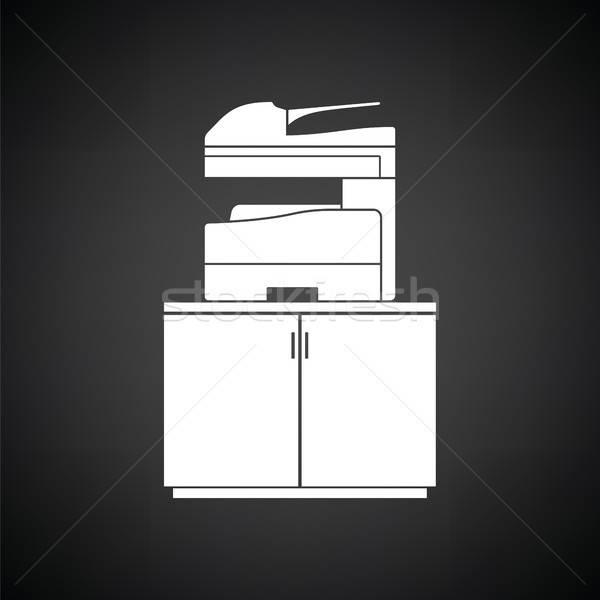 Copying machine icon Stock photo © angelp