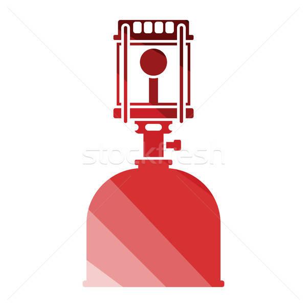 Kempingezés benzin lámpa ikon szín terv Stock fotó © angelp