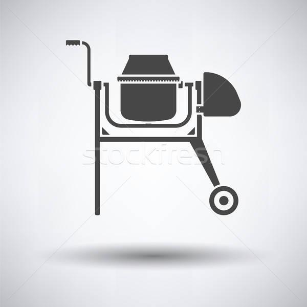 икона конкретные смеситель серый здании строительство Сток-фото © angelp