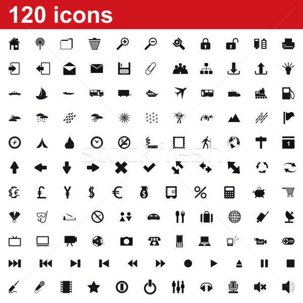 icons set Stock photo © angelp