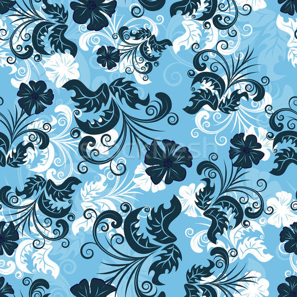 Stock photo: floral seamless background