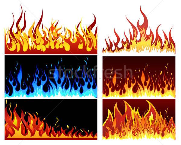 fire set Stock photo © angelp