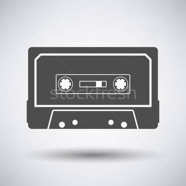 オーディオ カセット アイコン グレー 音楽 技術 ストックフォト © angelp