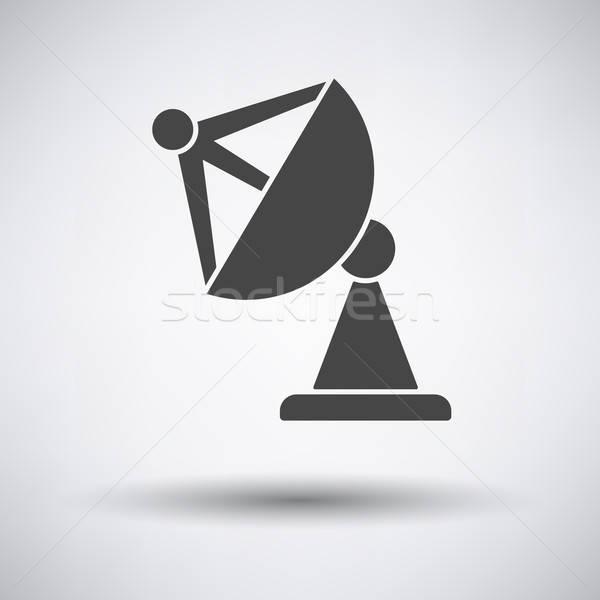Uydu anten ikon gri televizyon dizayn Stok fotoğraf © angelp