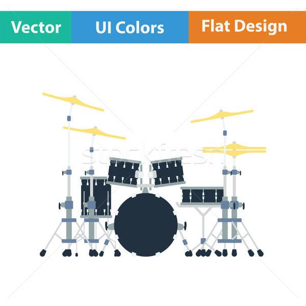 Drum set icon Stock photo © angelp